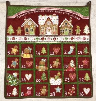 Julkalender röd -
