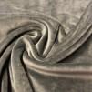 Stretchvelour- grå