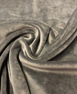Stretchvelour- grå -