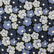 Stina bomullstrikå- blå