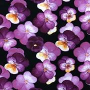 Viol bomullstrikå- lila