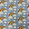 Regnbåge- bomullstrikå