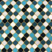 Marocko blå- bomullstrikå