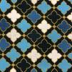Nadja blå- bomullsväv