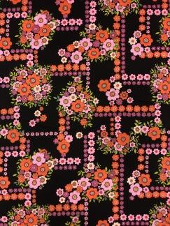 Blomlabyrint- bomullsväv -