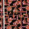 Blomlabyrint- bomullsväv