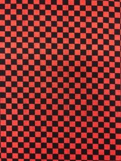 Rut röd/svart- bomullsväv -