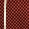 Rut röd/svart- bomullsväv