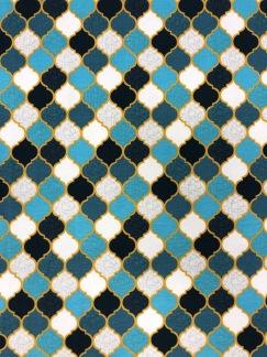 Marocko blå- bomullstrikå -