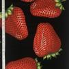 Jordgubbar stor- bomullsväv