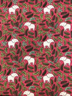 Rosa elefant- bomullstrikå -