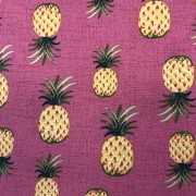 Ananas cerise- bomullsväv