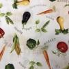 Grönsaker- bomullsväv