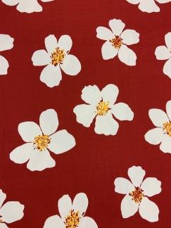 Röd Sommar Blomma -