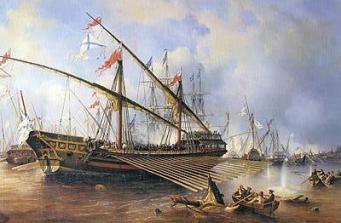 Rysk galär i sjöslaget vid Flisö