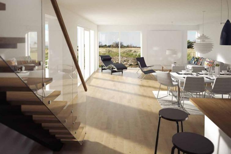 Precis som Torekov och dess omgivningar erbjuder arkitektens villor ljus och rymd med öppna planlösningar. Villorna är som gjorda för samvaro med familj och vänner.