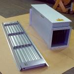 Infravärmare och varmluftsbatteri