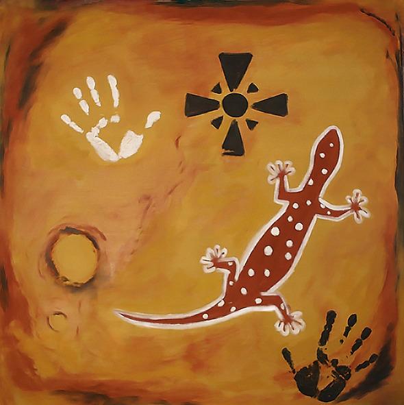 3 - Oil painting 80 x 80 cm
