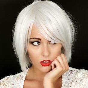 Peruk Silvery White - Peruk Silvery White