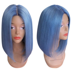 Light blue bob