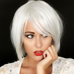 Peruk Silvery White
