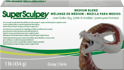 Lera Super Sculpey Medium Blend -- Gray, 450g