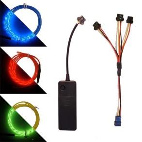 PLUG N´PLAY 3 x 1meter Chasing EL Wire - 3 x 1meter EL Wire, orange
