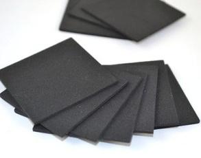 Craft foam 6 mm svart - Craft foam 5 st A4 ark 6mm