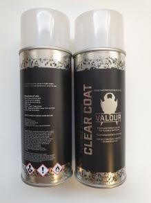 Valour Clear Coat 400ml Aerosol - Valour Satin Gloss 400ml Aerosol