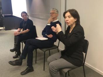 Från vänster Pia Persson, Patrick Bjurström och Inge Mette Kirkeby
