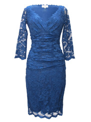 Olvis' Lace Dress | Blue  (Please contact boutique to order)