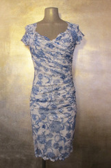 Olvis' Lace Dress | Blue & White (Please contact boutique to order)