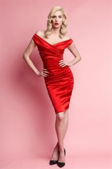 Wheels & Dollbaby Mantrap Satin Dress| Red (Back in stock in November)
