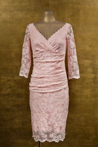 Olvis' Lace Dress |​ Baby Pink  (Please contact boutique to order) - 38/40