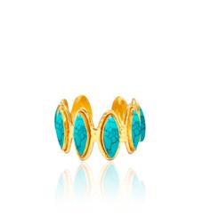 Sylvia Toledano Manchette Navette Turquoise Bracelet