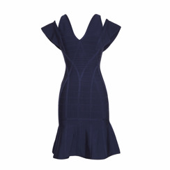 Nevada Love For Troika Band Dress With Shoulder Band | Navy