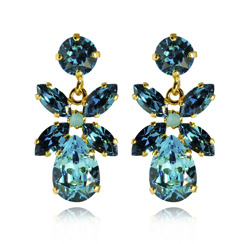 Caroline Svedbom Mini Dione Earrings | Light Turquoise + Indicolite & Gold