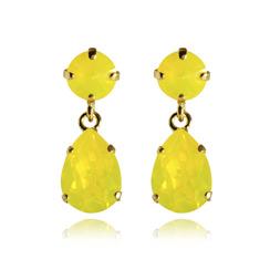 Caroline Svedbom Mini Drop Earrings | Yellow Opal