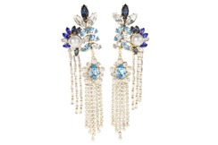 Shourouk Double Leaf's Earrings | Blue
