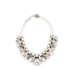 Tataborello Crystal Necklace | Cream Deluxe