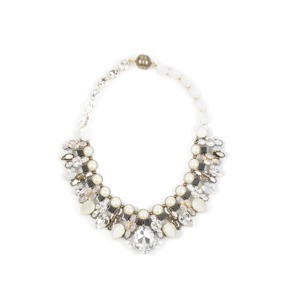 Tataborello Crystal Necklace | Cream Deluxe - Tataborello Crystal Necklace | White