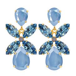 Caroline Svedbom Dione Drop Earrings | Summer Blue + Light Blue & Gold