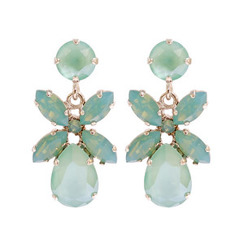 Caroline Svedbom Dione Earrings | Chrysolite + Pacific Opal & Gold