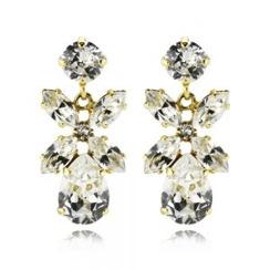 Caroline Svedbom Mini Dione Earrings | Crystal & Gold