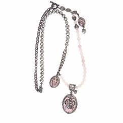Gem Kingdom Rose Quartz Necklace