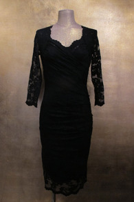 Olvis' Heart Neckline Lace Dress | Black (Please contact boutique to order) - EU 42