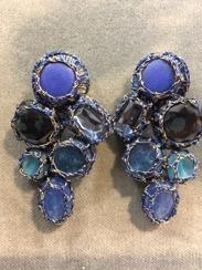 Boks &  Baum Earrings Clips | Deep Blue