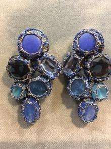 Boks &  Baum Earrings clips | Deep Blue - Boks &  Baum Earrings Clips | Deep