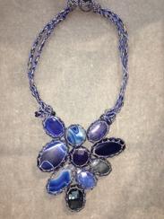 Boks & Baum Mini Lea Blue Necklace