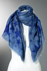 Richiami Couture Stelle Stars Scarf | blue